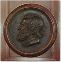 Bronze Medallion of Robert Browning by Thomas Woolner, 1856